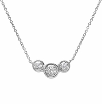 3 Stone Diamond Necklace 1.50cttw