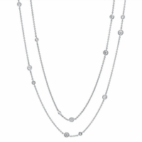 "36"" Diamond Bezel Necklace, 1.05cttw"