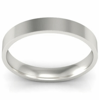 3mm Flat Wedding Ring in 14k
