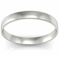 3mm Milgrain Wedding Ring in 18k