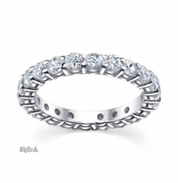 2 ctw Moissanite Forever One Round Eternity Ring