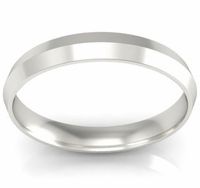 3mm Platinum Wedding Band Knife Edge