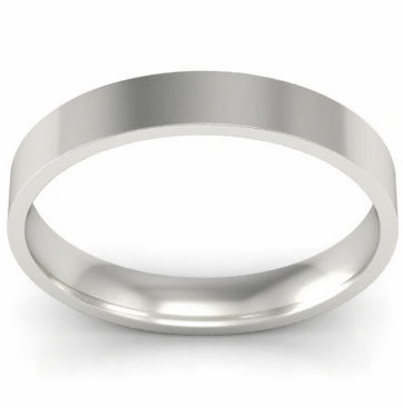 3mm Platinum Wedding Ring Flat - click to enlarge