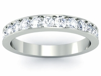 3mm Width Pave Diamond Half Eternity Ring