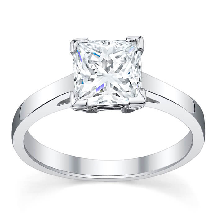 baunat rings solitaire en engagement wedding platinum diamond carat ring in