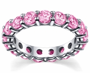 4.00 cttw Pink Sapphire Eternity Ring
