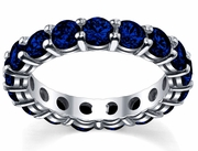 4.00 cttw Sapphire Eternity Ring