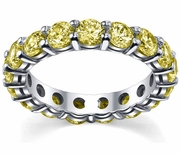 4.00 cttw Yellow Sapphire Eternity Ring
