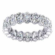 Oval Cut Diamond Eternity Band, 4.50cttw