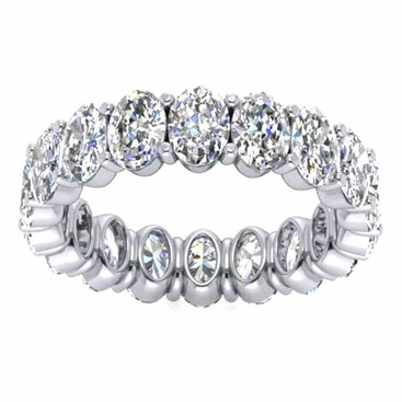 Oval Cut Diamond Eternity Band, 4.50cttw - click to enlarge