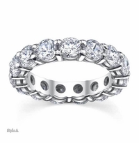 4.60 ctw Forever One Moissanite Round Eternity Ring