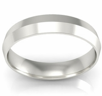 4mm Knife Edge Wedding Ring in 18k