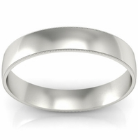 4mm Milgrain Wedding Band in 14k