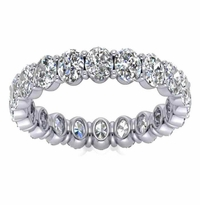 2.40 ctw Oval Forever One Moissanite Eternity Ring