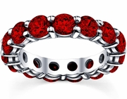 5.00 cttw Ruby Eternity Ring