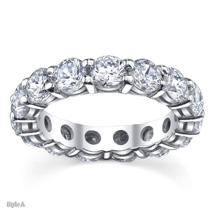 dunn forevermark ring five wedding halo jr diamond band stone bands