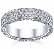 5 Row Pave Diamond Eternity Ring