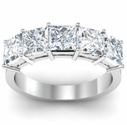5 Stone Ring Certified by GIA