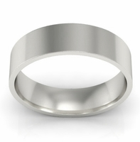 5mm Flat Wedding Ring in 18k