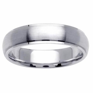 5.5mm Mens or Womens Brushed Wedding Ring