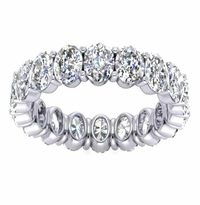 4.68 ctw Oval Forever One Moissanite Eternity Band