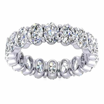5mm Oval Forever One Moissanite Eternity Band - click to enlarge