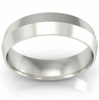 5mm Platinum Wedding Ring Knife Edge