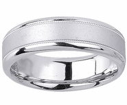 6.5mm Brushed Mens Wedding Band