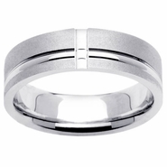 6.5mm Brushed Wedding Band for Men