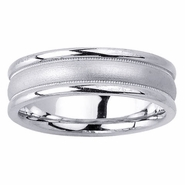 6.5mm Dual Finish Unique Wedding Ring