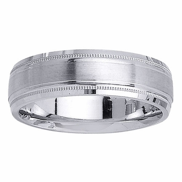 6.5mm Unique Wedding Ring for Men or Women - click to enlarge