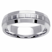 6mm Domed Wedding Band with Unique Design
