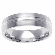 6mm Dual Finish Mens Wedding Ring