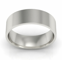 6mm Flat Wedding Ring in 18k