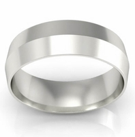 6mm Knife Edge Wedding Ring in 14kt Gold