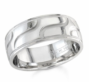 7.5mm Mens Wedding Band Comfort Fit