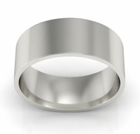 7mm Flat Wedding Ring in 18k