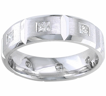 7mm Mens Diamond Eternity Wedding Band - click to enlarge