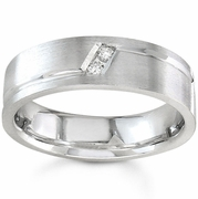 7mm Mens Diamond Wedding Band 0.10cttw