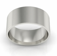 8mm Flat Wedding Ring in 14k