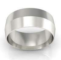 8mm Platinum Wedding Ring Knife Edge