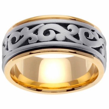 9.5mm Celtic Wedding Ring - click to enlarge