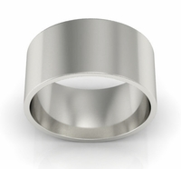9mm Platinum Wedding Ring Flat