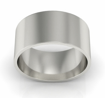 9mm Platinum Wedding Ring Flat - click to enlarge