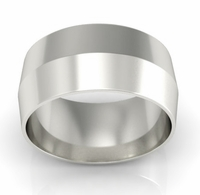 9mm Platinum Wedding Ring Knife Edge