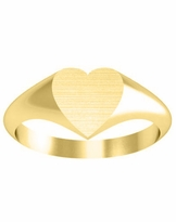 9mm Surface Heart Signet Ring Women