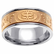 9mm Unique Celtic Wedding Ring for Men