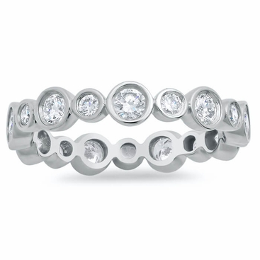 wedding the weighs diamond line style graceful oval in eternity carats of each pin a band platinum edge chic half setting bands ring polished bezel set embraces