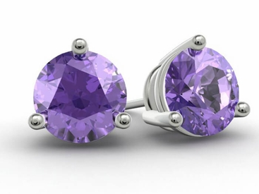 Amethyst Gold Studs - click to enlarge