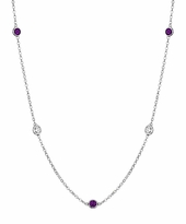 Amethysts and VS Diamonds Necklace